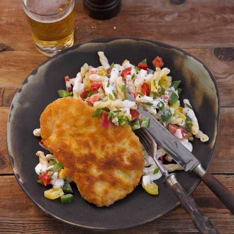 Foto Wiener Schnitzel mit Nudelsalat von WW