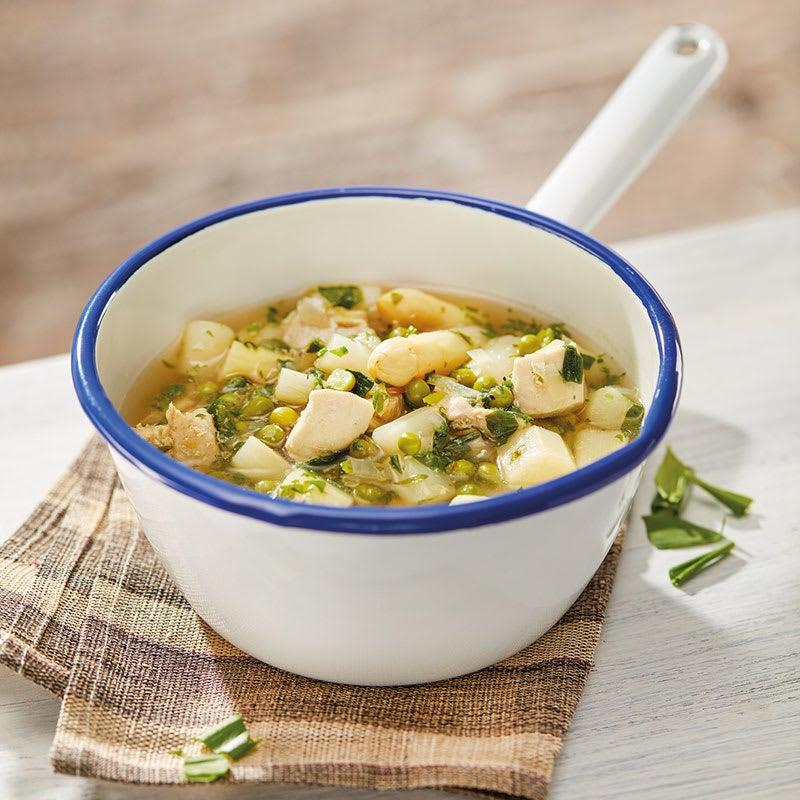 Foto Bärlauch-Spargel-Suppe mit Hähnchenbrust von WW