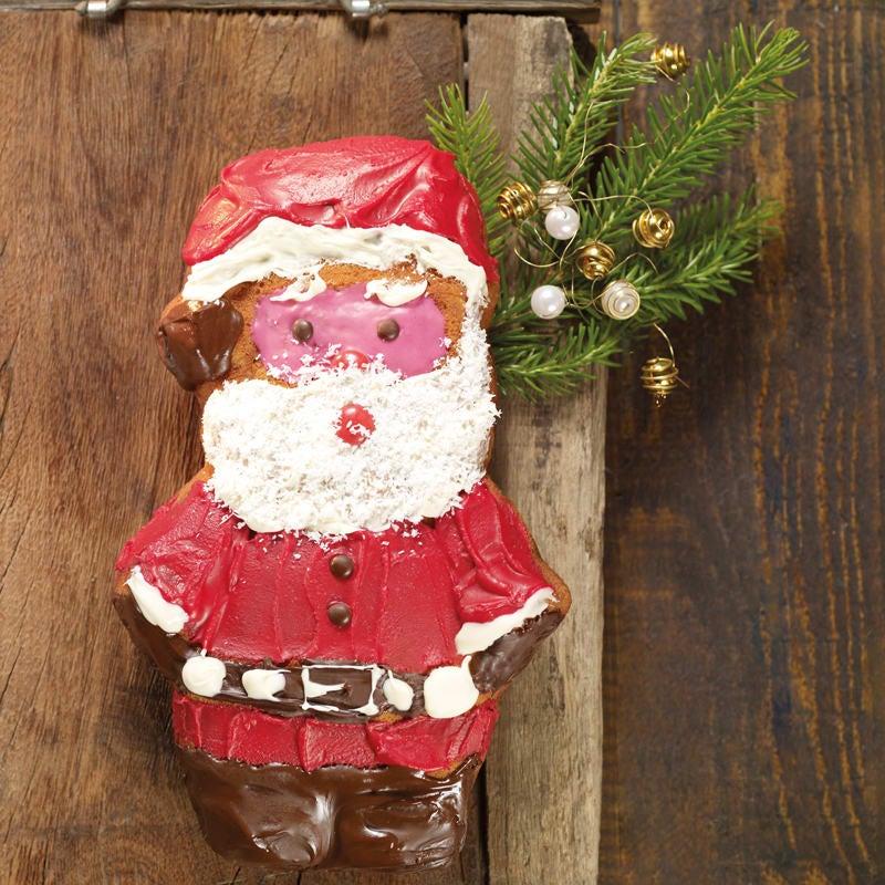 Foto Weihnachtsmannkuchen mit Glasur von WW