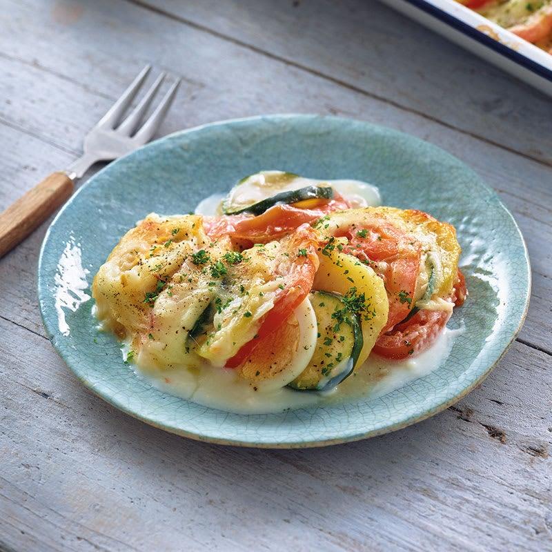 Foto Kartoffel-Ei-Gratin mit Tomaten und Zucchini von WW