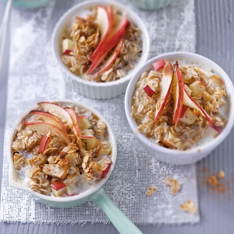 Foto Gebackenes Apfel-Zimt-Porridge von WW