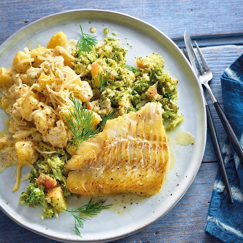 Foto Kabeljau mit Kartoffelsalat und Broccolistampf von WW