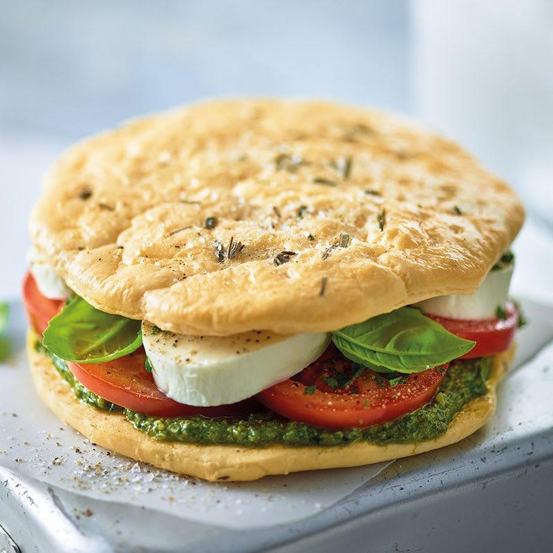 Foto Low-Carb-Sandwich mit Mozzarella von WW
