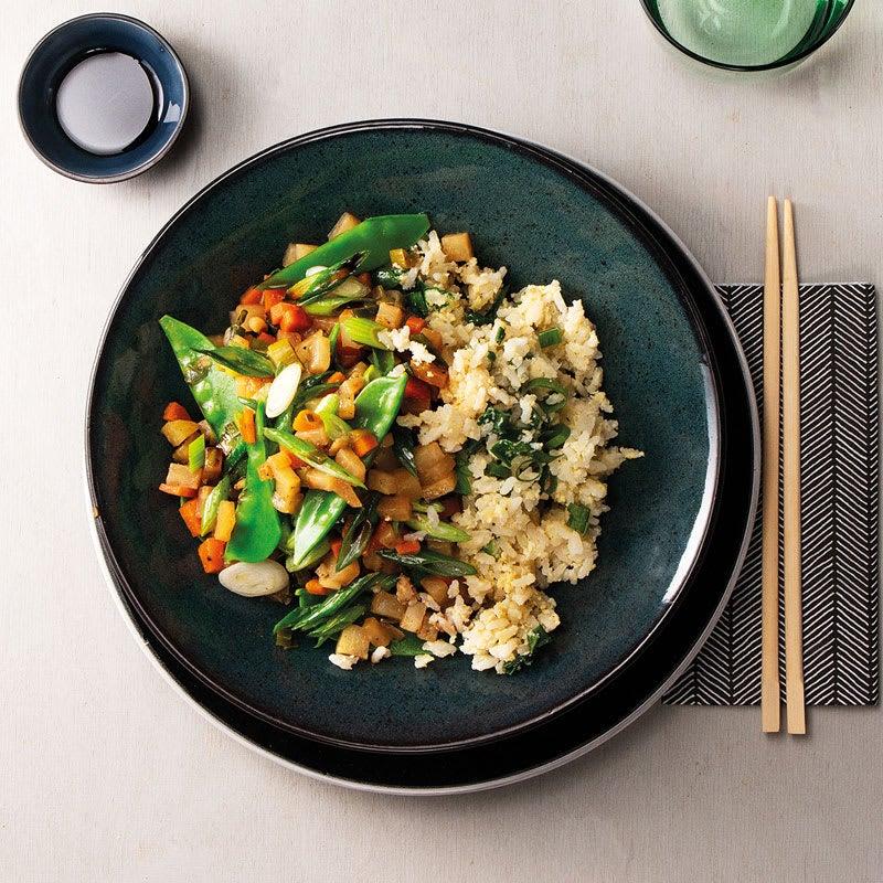Foto Japanische Gemüsepfanne mit gebratenem Reis von WW