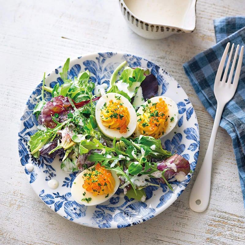 Foto Gefüllte Eier mit Sardellen und Salat von WW