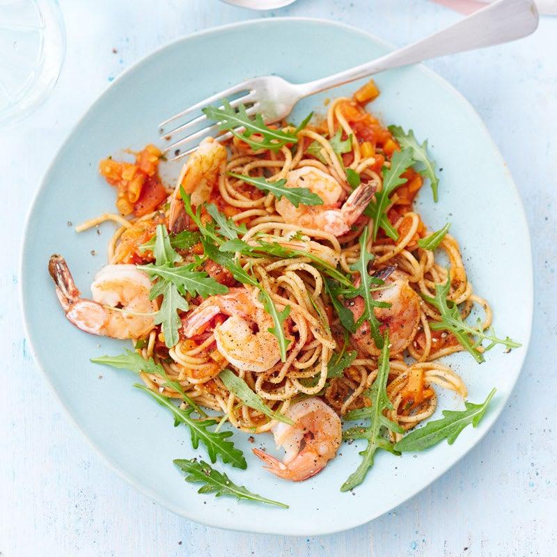 Foto Garnelen-Tomaten-Spaghetti von WW