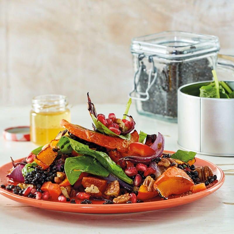 Foto Kürbis-Linsen-Salat mit Pekannüssen von WW