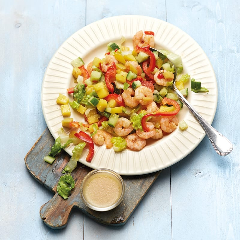 Foto Fruchtiger Salat mit scharfen Garnelen von WW