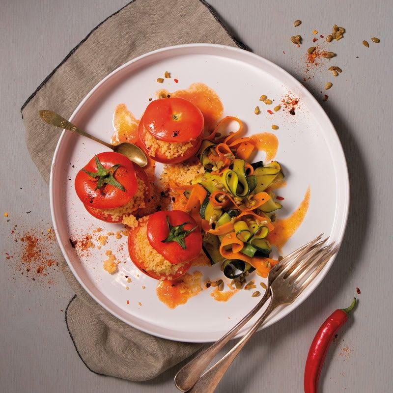 Foto Gefüllte Tomaten mit pikantem Karottensalat von WW