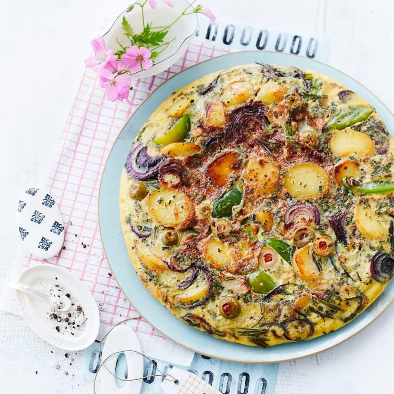 Foto Frittata mit Kartoffeln und Paprika von WW