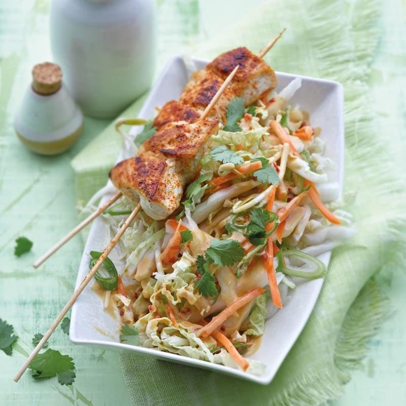 Foto Asiatischer Hähnchensalat mit Erdnussdressing von WW