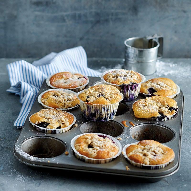 Foto Blueberry Muffins mit Streuseln von WW