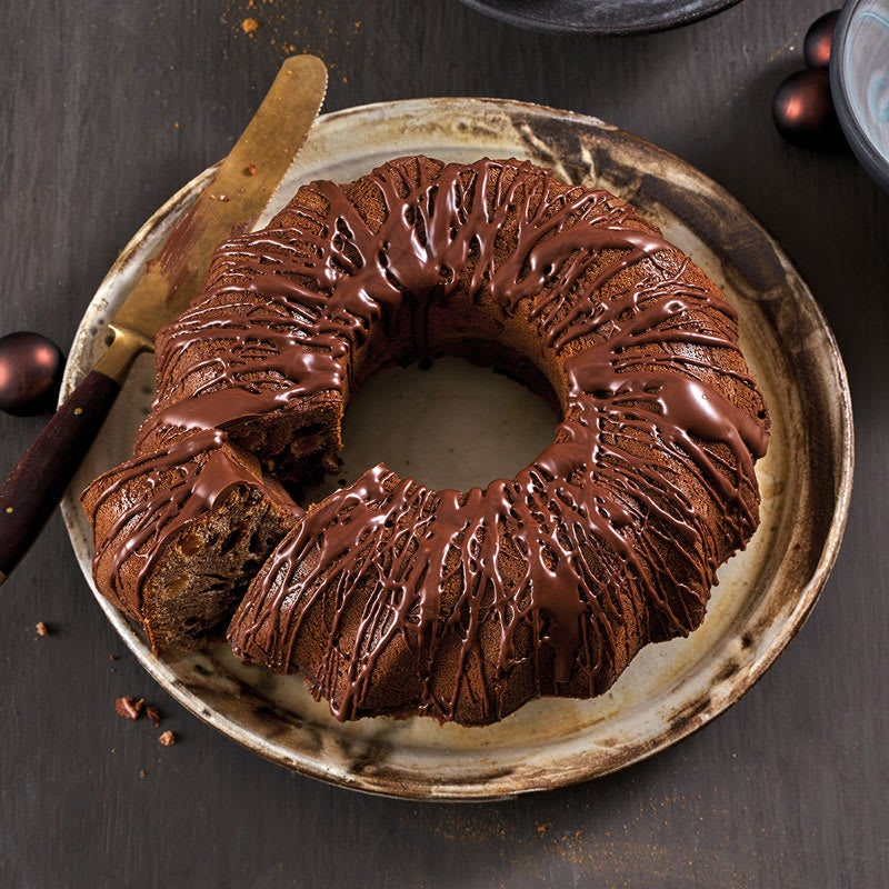 Foto Honigkuchen-Gugelhupf mit Trockenfrüchten von WW