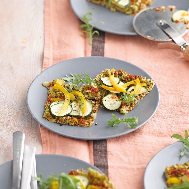 Foto Gemüsepizza mit Broccoliboden von WW