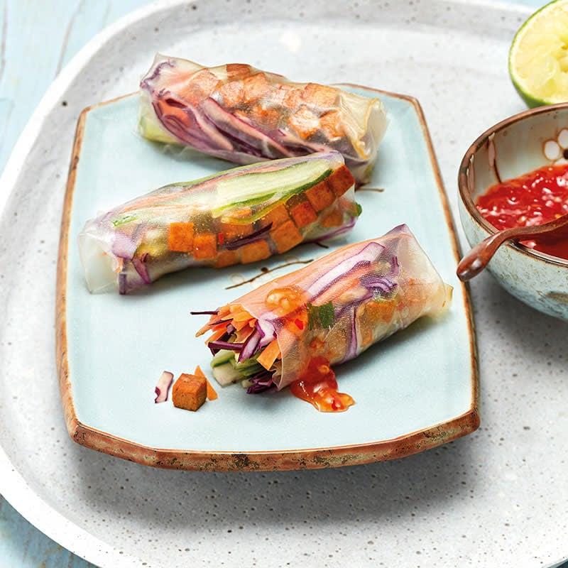 Foto Bunte Summerrolls mit Chili-Limetten-Tofu von WW