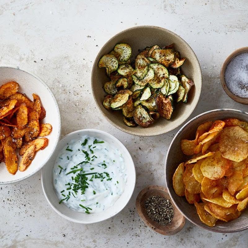 Foto Kartoffel- und Gemüsechips aus der Heißluftfritteuse von WW