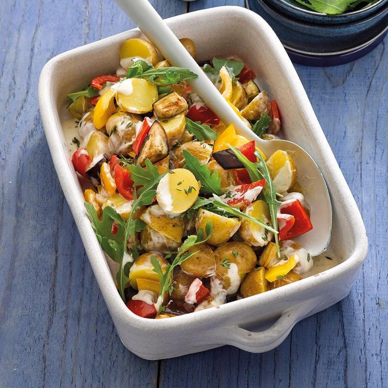 Foto Mediterraner Kartoffelsalat mit Aubergine von WW