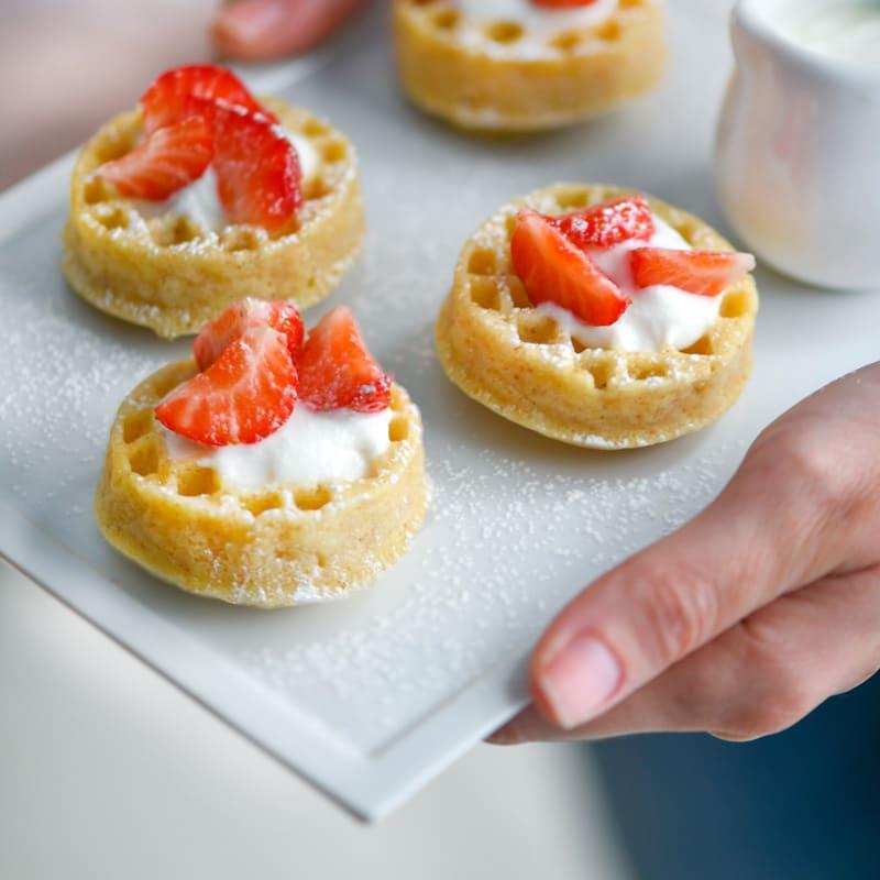 Foto Erdbeer- und Joghurt-Waffeln von WW