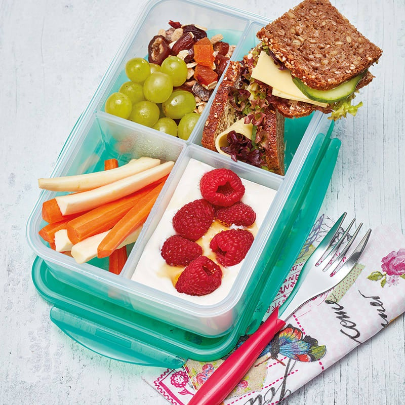 Foto Bunt gefüllte Lunchbox von WW