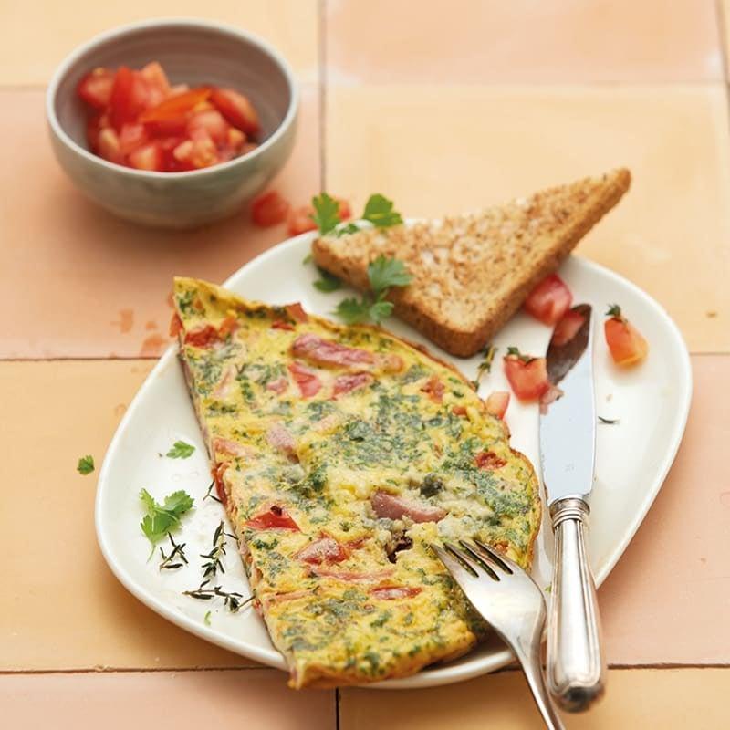 Foto Frühstücksomelette mit Gorgonzola von WW