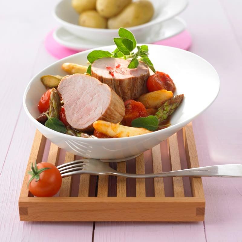 Foto Tomaten-Spargel-Ragout mit Filet von WW