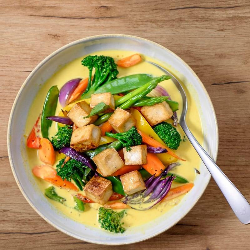 Foto Tofucurry mit Asia-Gemüse von WW