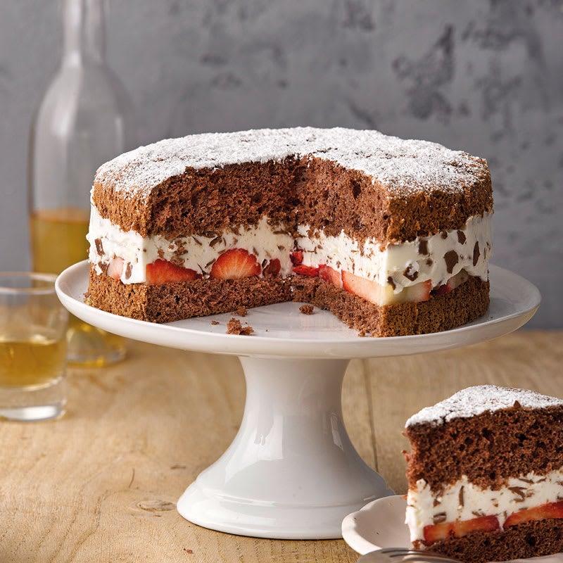 Foto Erdbeer-Stracciatella-Torte von WW