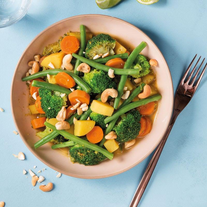 Foto Zitronengrascurry mit Brokkoli, Kartoffel und Buschbohnen von WW