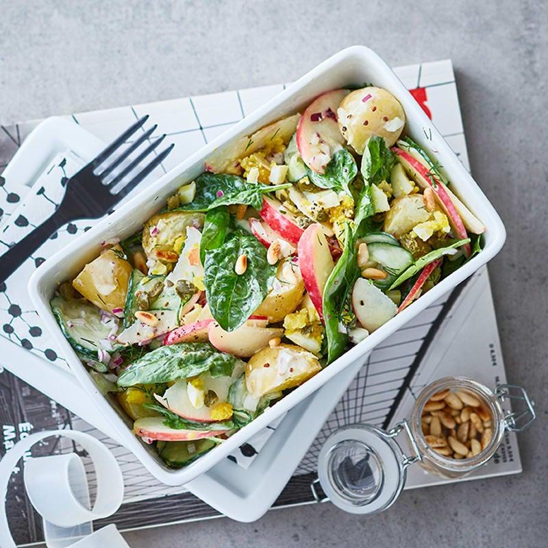 Foto Kartoffelsalat mit Apfel und Gurke von WW