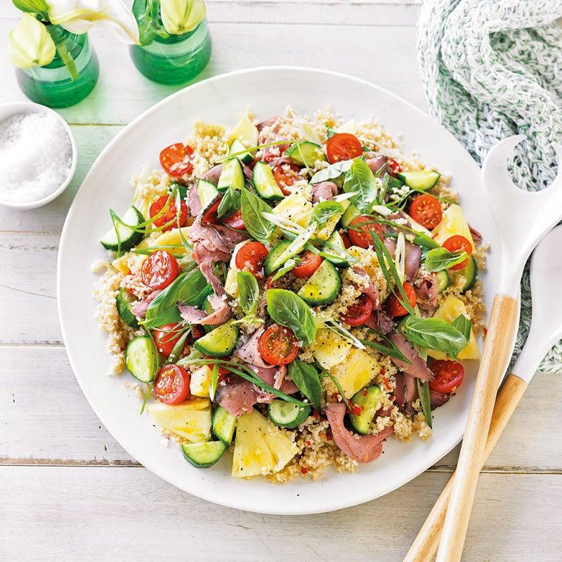 Foto Roastbeef-Bulgur-Salat mit Ananas von WW