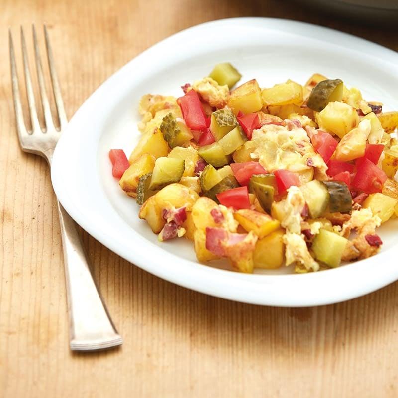 Foto Bauernfrühstück mit Tomaten von WW