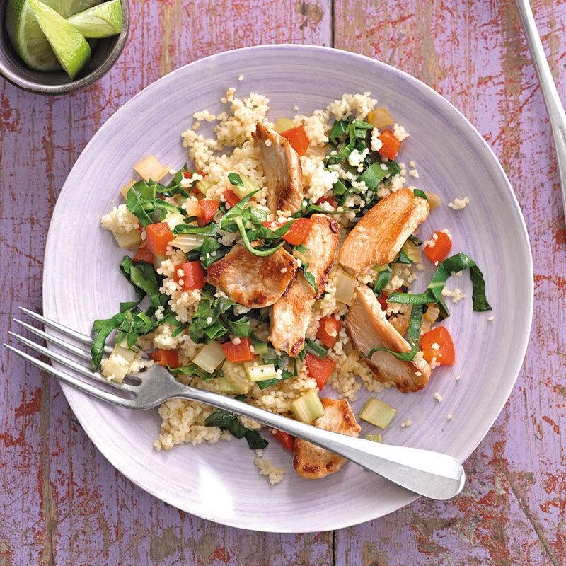 Foto Gemüsecouscous mit Hähnchenbrust von WW