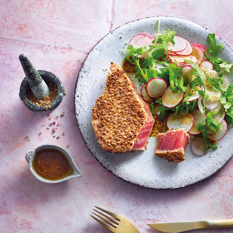 Foto Koriander-Thunfisch mit scharfem Salat von WW