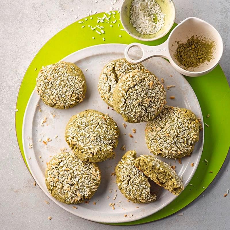 Foto Kokos-Matcha-Cookies von WW