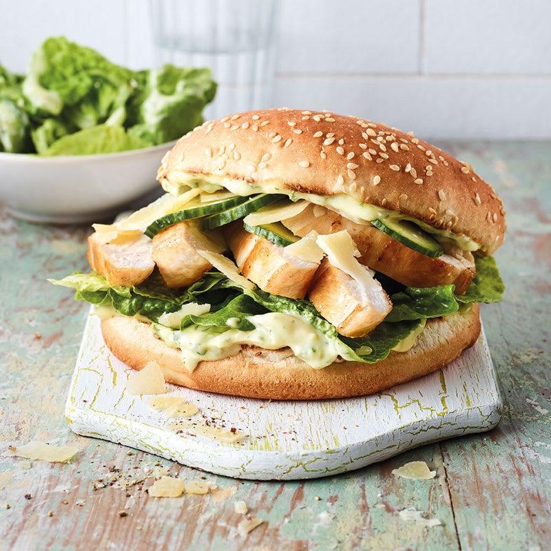 Foto Caesar-Chicken-Burger von WW