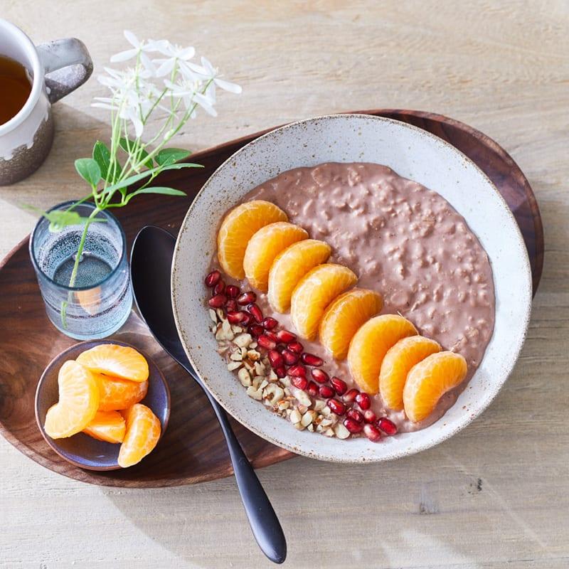 Foto Schoko-Haselnuss-Porridge von WW