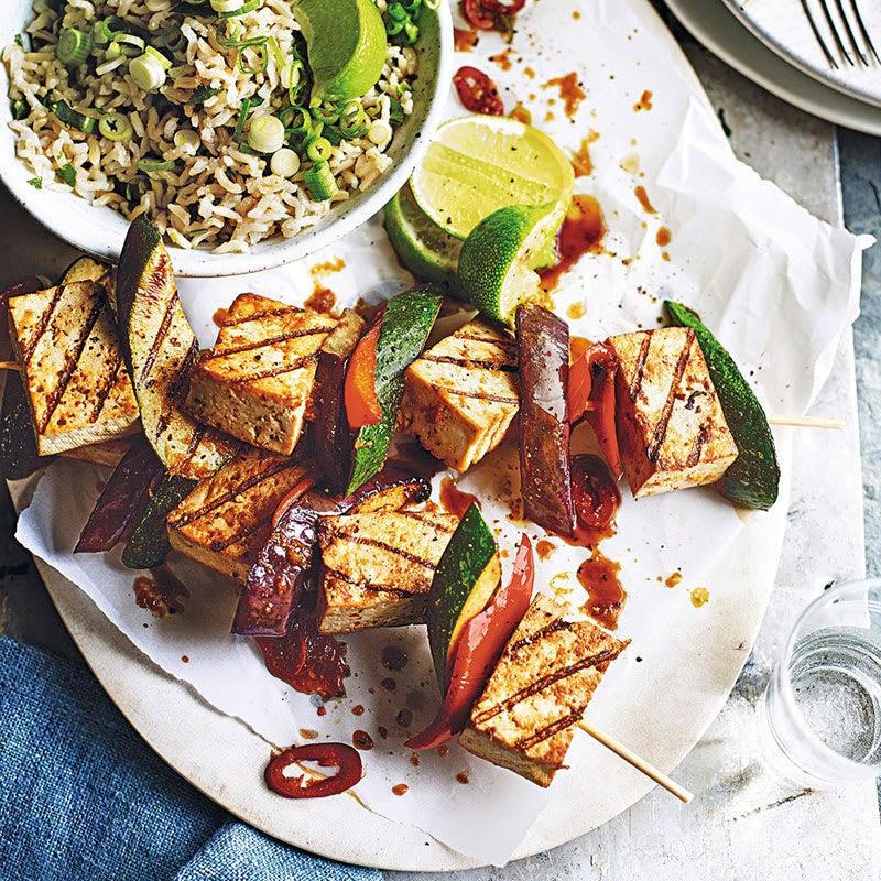 Foto Tofu-Kebabs mit Reissalat von WW