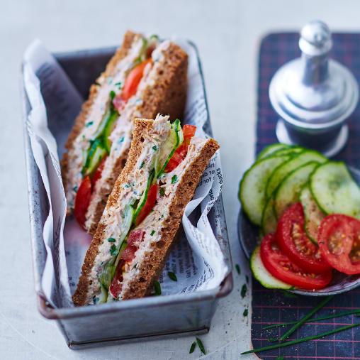 Foto Thunfisch-Gurken-Sandwich von WW