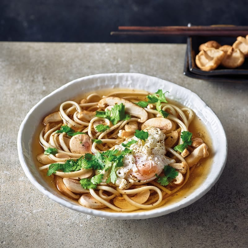 Foto Shiitake-Zitronengras-Suppe mit pochiertem Ei von WW