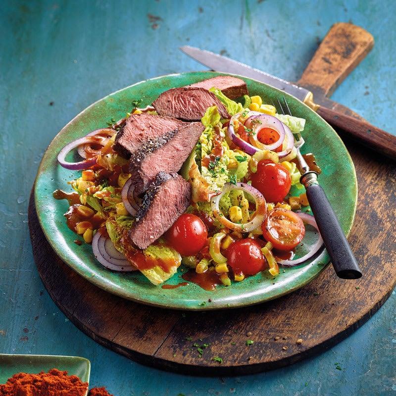 Foto BBQ-Steak-Salat von WW
