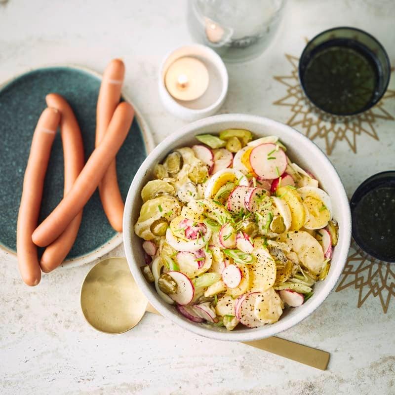 Foto Kartoffelsalat mit Würstchen von WW