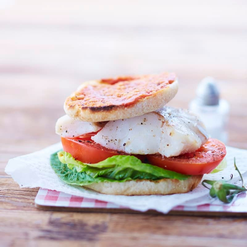 Foto Tomaten-Fisch-Burger von WW