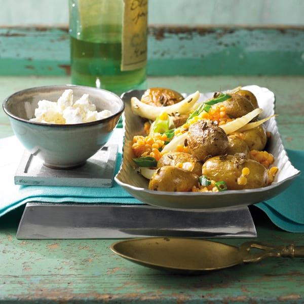 Foto Blechkartoffeln mit Fenchel und Linsen von WW