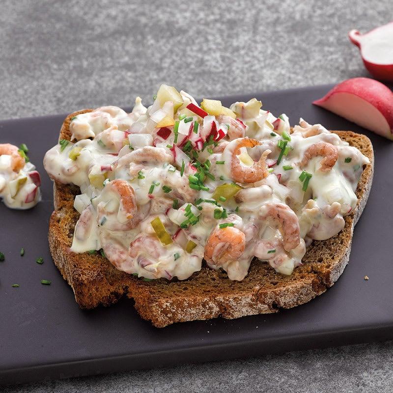 Foto Geröstetes Brot mit Krabbensalat von WW
