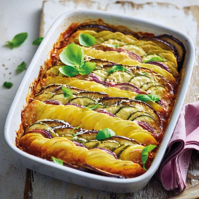 Foto Mediterranes Gemüse-Kartoffel-Gratin mit Parmesan von WW