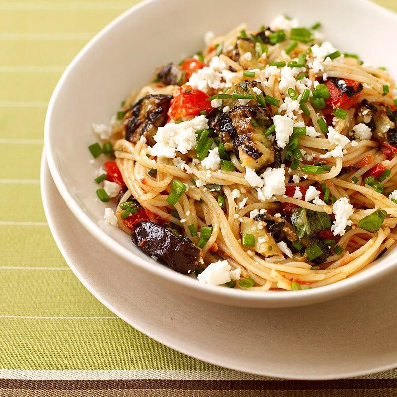 Foto Spaghetti mit Tomaten-Auberginen-Sauce von WW
