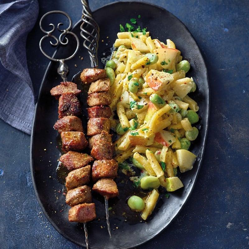 Foto Gegrillte Lammspieße mit Bohnen-Birnen-Salat von WW
