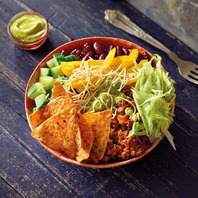 Foto Mexikanische Taco-Bowl mit Avocadodressing von WW