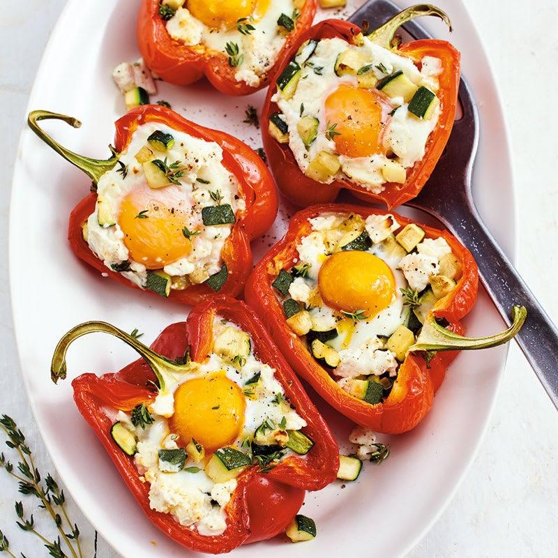 Foto Gefüllte Paprika mit Ei und Schafskäsetopping von WW