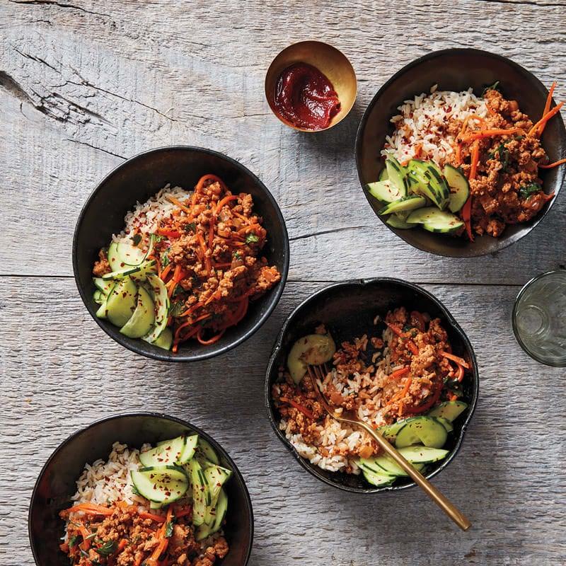 Foto Koreanische Geflügel-Reis-Bowl von WW